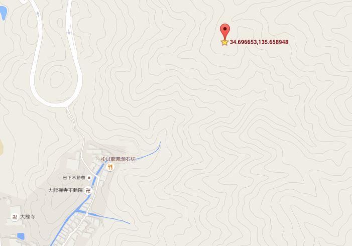 孔舎衛顕彰碑地図