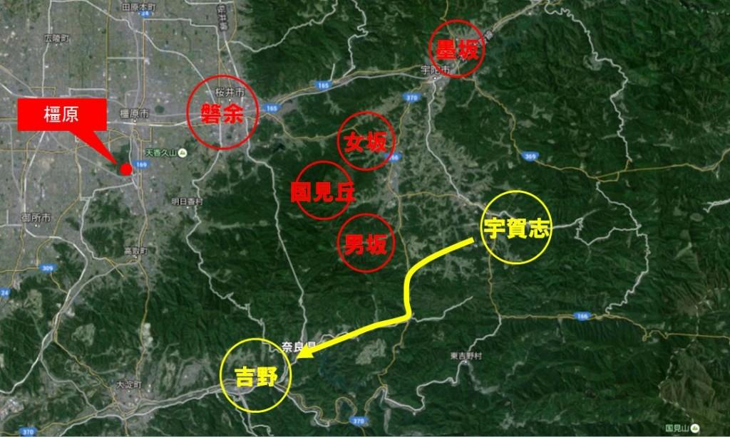 吉野巡察地図