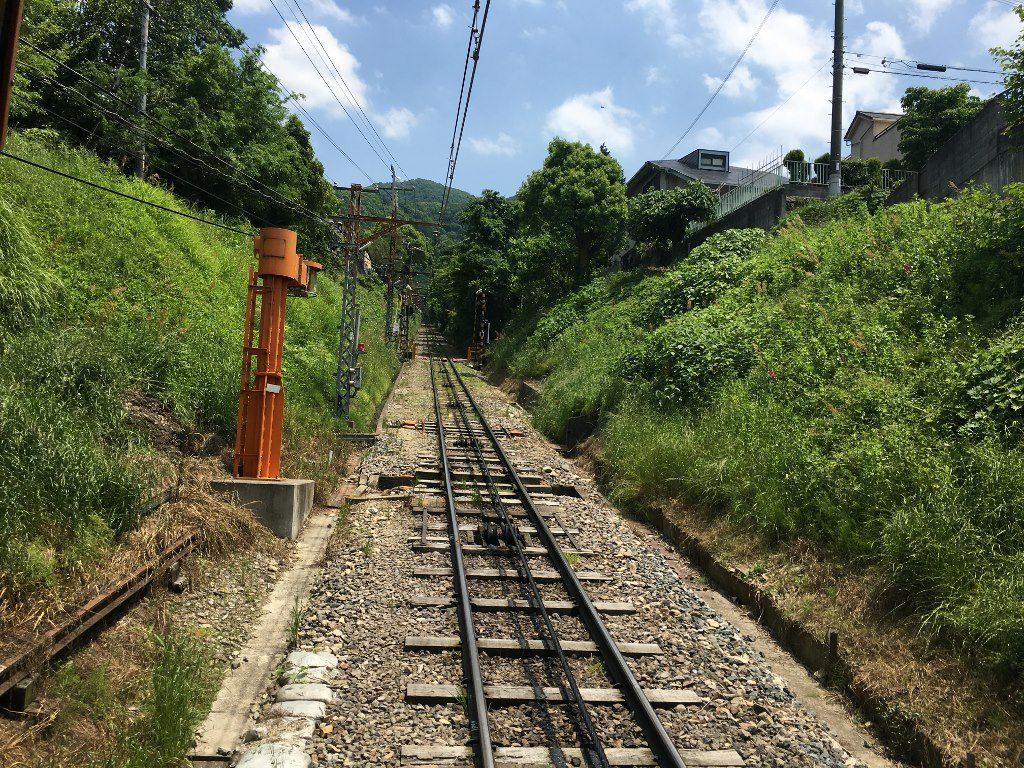 信貴山口駅と信貴線とケーブルカー (48)