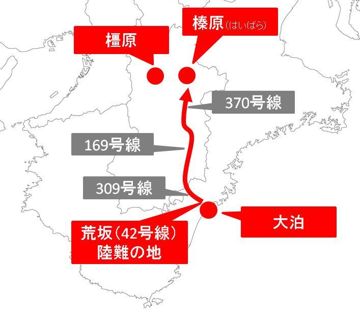 東征陸路ルート