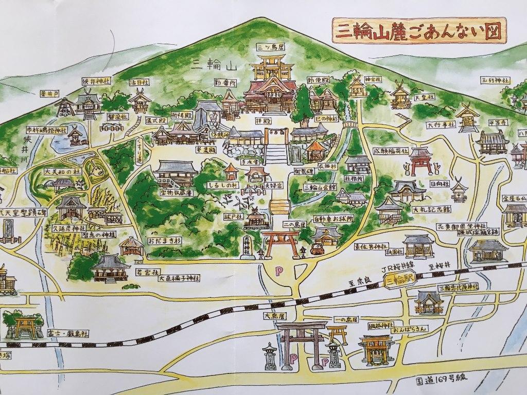 大神神社周辺マップ
